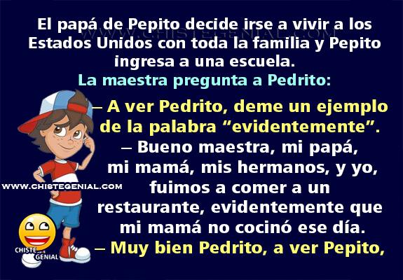 Pepito viaja a Estados Unidos con sus padres - Chiste Genial