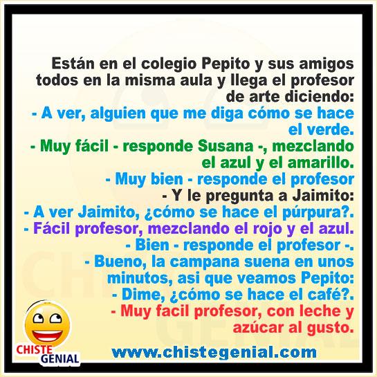 Chistes de Pepito - Dime, ¿ cómo se hace el café ?.