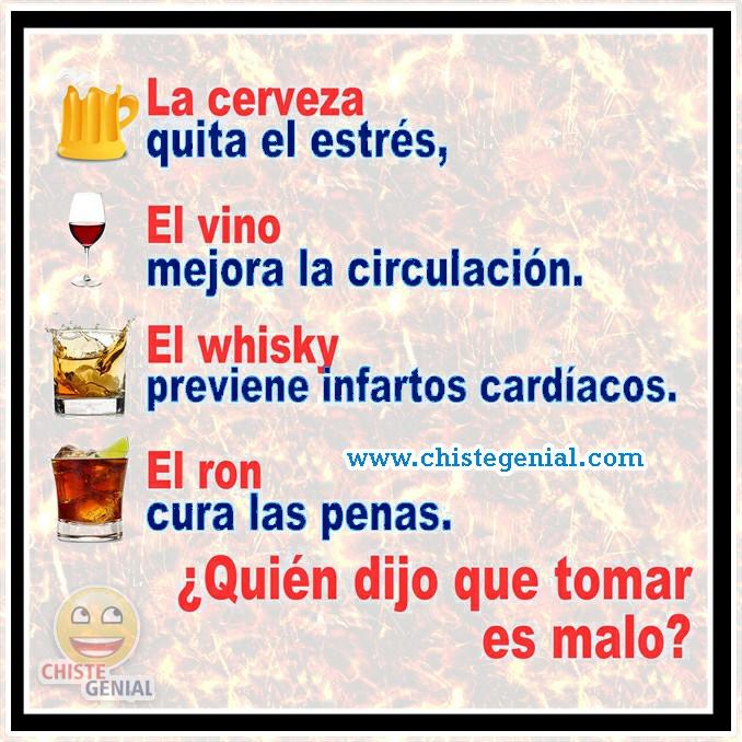 Chistes de borrachos: ¿ Quién dijo que tomar es malo ?