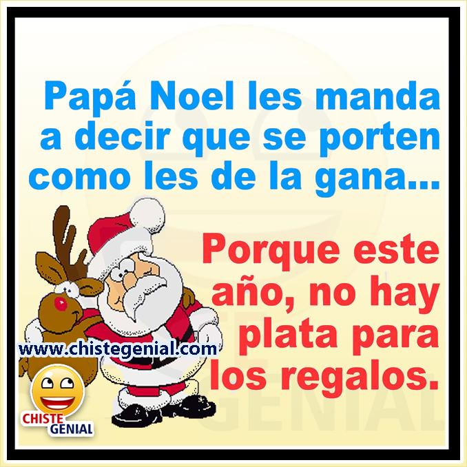 Chistes navideños: Papá noel les manda a decir que se porten mal