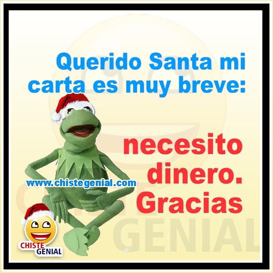 Chistes navideños - Querido Santa necesito dinero
