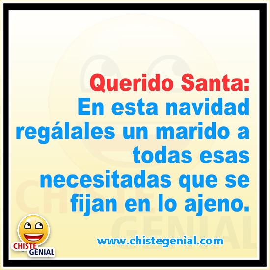 Chistes navideños - Querido Santa regálales un marido a las necesitadas