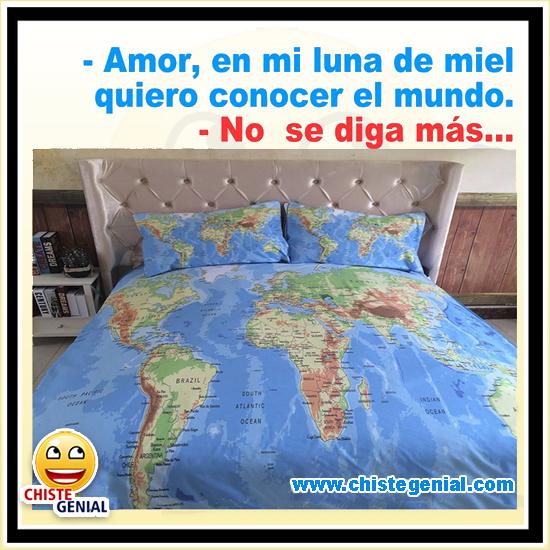 Chistes de parejas - Quiero conocer el mundo.