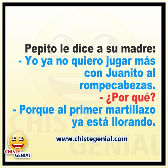 Chistes de Pepito - No quiero jugar más al rompecabezas