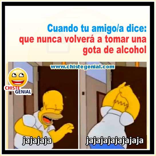 Chistes de borrachos - Nunca volverá a tomar una gota de alcohol.