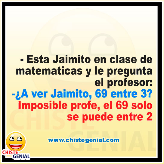 Chistes cortos de Jaimito - En clases de matemáticas