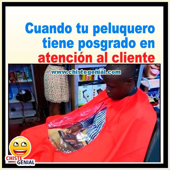 Chistes cortos - Cuando tu peluquero tiene posgrado