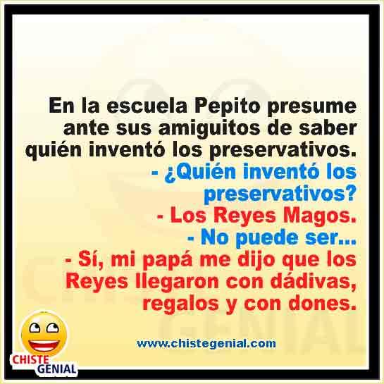 Chistes de Pepito ¿ Quién inventó los preservativos ?
