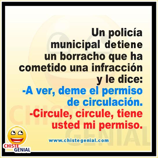 Chistes de borrachos - Policía municipal detiene un borracho