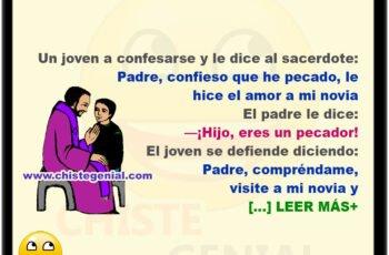 Un joven llega a confesarse