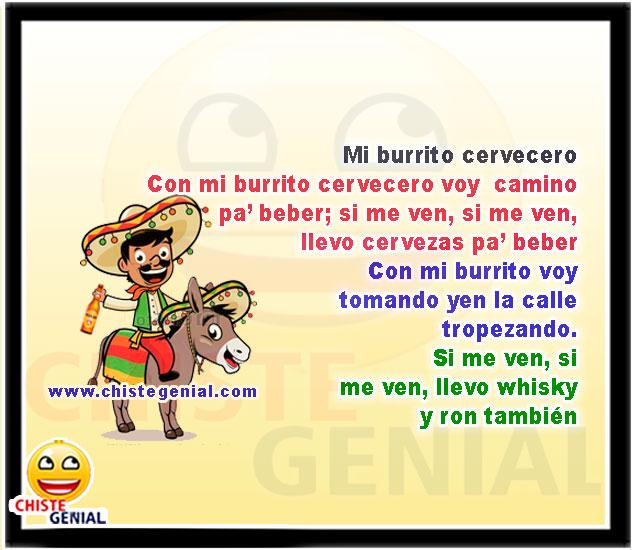 Con Mi Burrito Cervecero Voy Camino Pa Beber Chistes Navideños