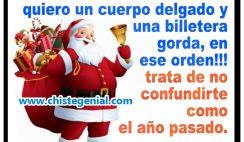 Chistes navideños - Querido Santa, este año quiero