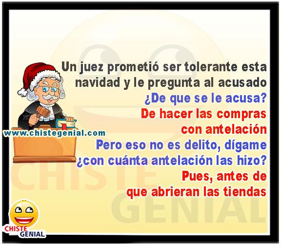 Juez prometió ser tolerante en navidad