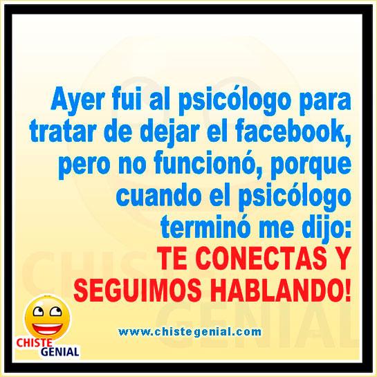 Ayer fui al psicólogo para tratar de dejar el facebook