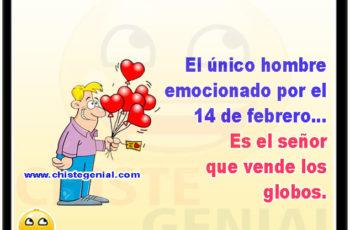 El único hombre emocionado por el 14 de febrero, es el señor de los globos