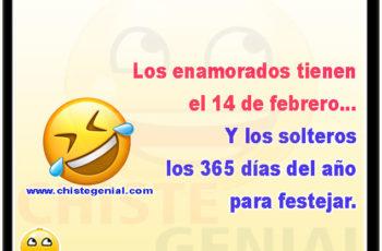 Los enamorados tienen el 14 de febrero y los solteros los 365 días del año para festejar.