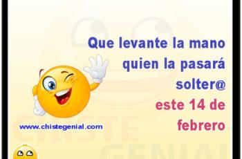 Que levante la mano quien la pasará soltero este 14 de febrero