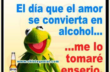 El día que el amor se convierta en alcohol, me lo tomaré en serio
