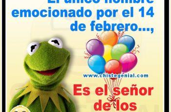 Hombre emocionado por el 14 de febrero - Chistes de San Valentín