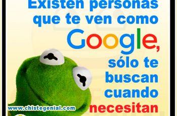 Existen personas que te ven como google - Chistes buenos