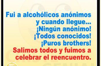 Fuí a alcohólicos anónimos - Chistes de borrachos