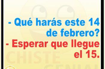 ¿ Qué harás este 14 de febrero ? - Chistes de San Valentín