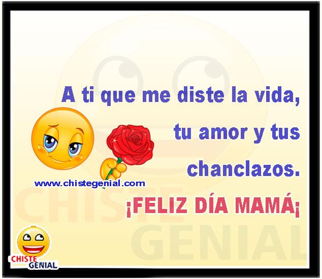 A ti que me diste la vida, tu amor y tus chanclazos...  Feliz Día mamá.