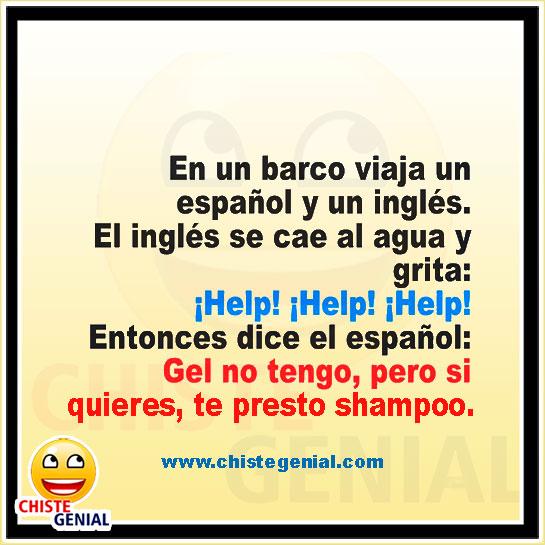 El inglés se cae al agua - Chistes cortos de españoles