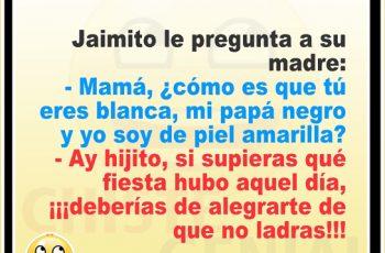 Chistes de Jaimito - ¿ Por qué soy de piel amarilla ?