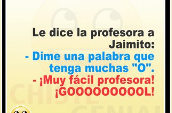 Chistes de Jaimito - La profesora pregunta a Jaimito