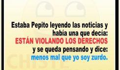 Chistes divertidos de Pepito - Pepito leyendo noticias