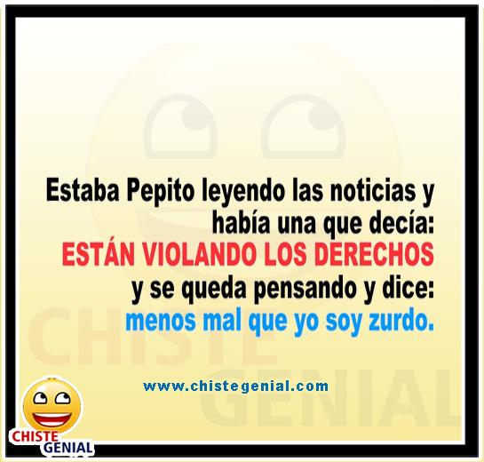 Chistes de Pepito - Pepito leyendo noticias