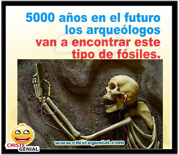 Chistes cortos buenos divertidos - 5000 años en el futuro