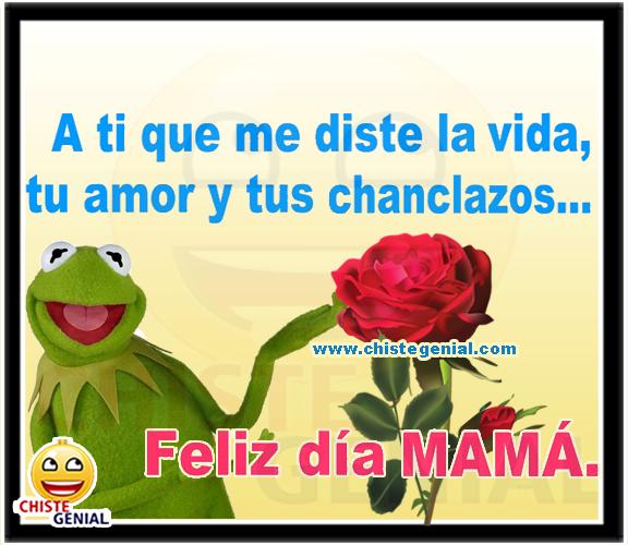 A ti que me diste la vida, tu amor y tus chanclazos, Feliz Día mamá.