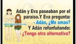 Chistes de parejas - Adán y eva paseaban por el paraíso