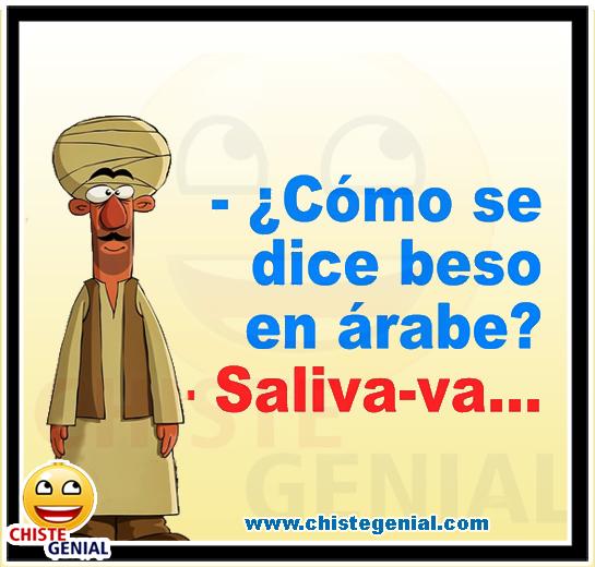 Chistes cortos buenos - ¿ Cómo se dice beso en árabe ?