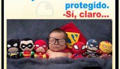 Chistes cortos buenos - Dejaste al bebé bien protegido.