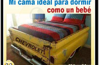 Chistes gráficos - Mi cama ideal para dormir como un bebé