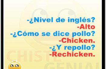 Chistes cortos buenos - ¿ Cómo se dice pollo en inglés ?