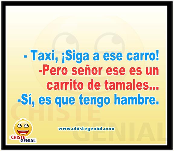 Chistes cortos buenos y divertidos - Taxi, siga ese carro.