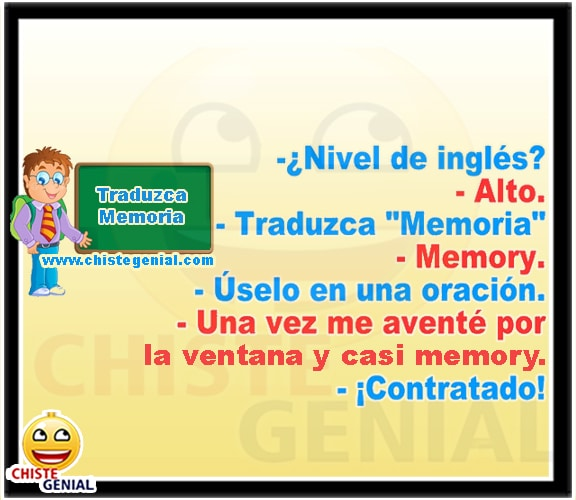Chistes cortos buenos y divertidos - Traduzca memoria.