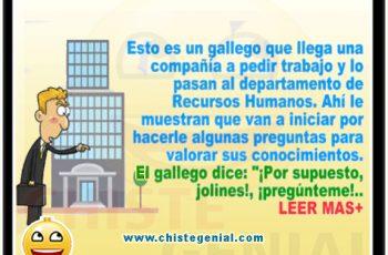 chistes de gallegos - Gallego buscando trabajo