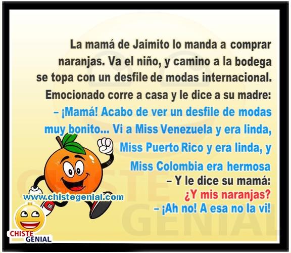 Chistes de Jaimito - Desfile de modas internacional.