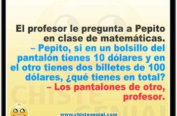 Chistes de Pepito - Pepito en clase de matemáticas