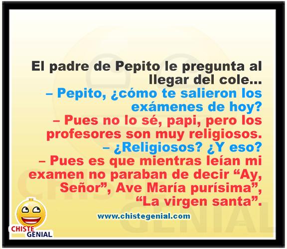 Chistes divertidos de Pepito - Profesores religiosos