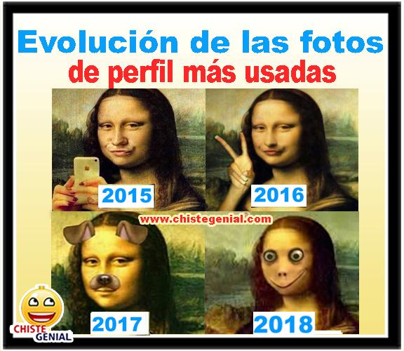 Chistes gráficos - Evolución de las fotos de perfil más usadas