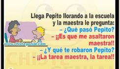Chistes divertidos de Pepito - ¿ Qué te pasó Pepito ?