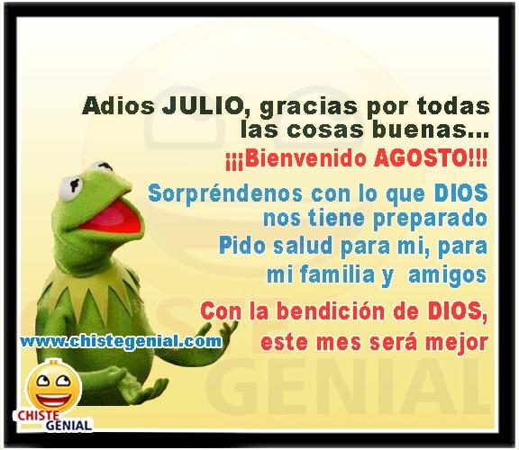 Adiós Julio Gracias Por Todas Las Cosas Buenas