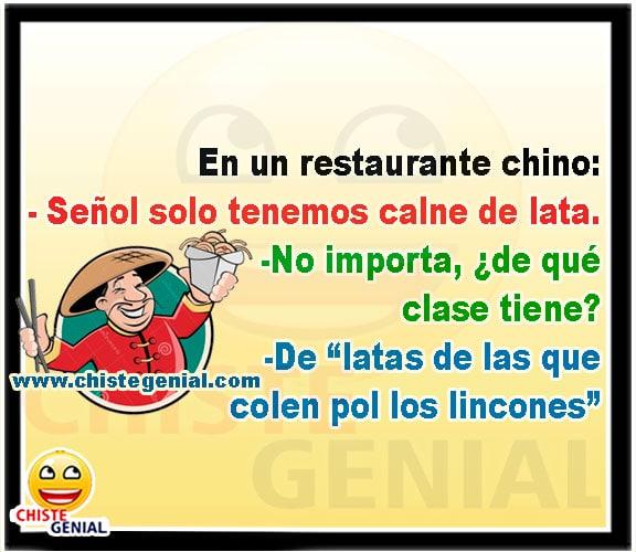 Chistes buenos - En un restaurante chino