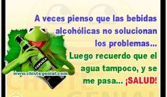 Las bebidas alcohólicas no solucionan los problemas.